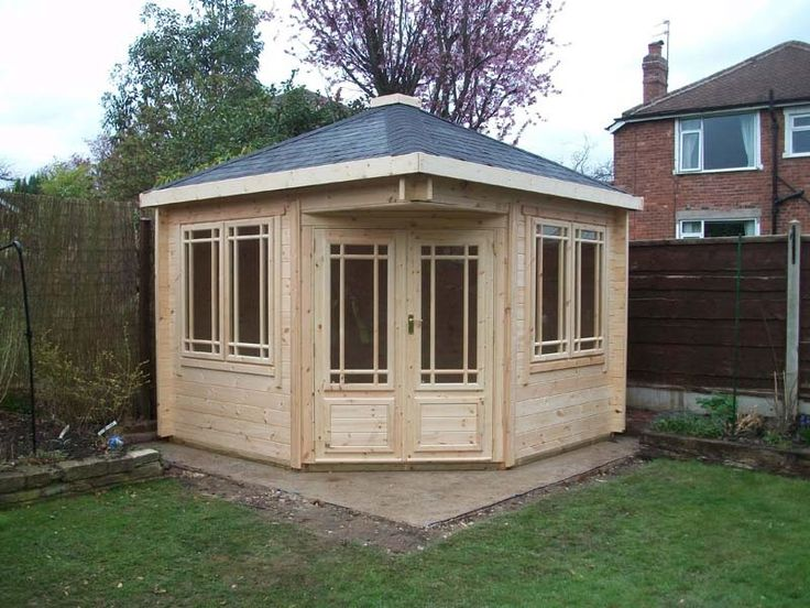 corner summer houses and corner garden buildings view online today - Corner Garden Sheds 7x7