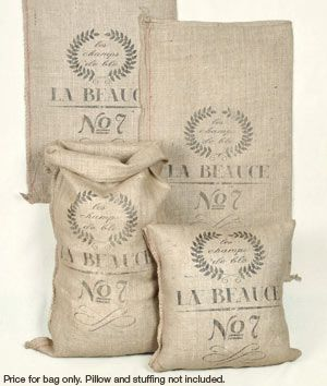 French Grain Sack Reproduction : Image 3 Belle collection de burlap et autres tissus pas cher !