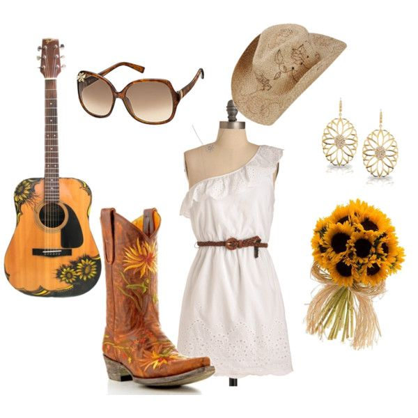 SunflowerAmazing, Summer Outfit, Style, Country Fashion, Closets, Country Brides, Country Girls, Beautiful Country, Sunflowers Boots