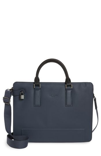 c3e2bbb81 TED BAKER STARK LEATHER BRIEFCASE - BLUE.  tedbaker  bags  leather  charm   accessories