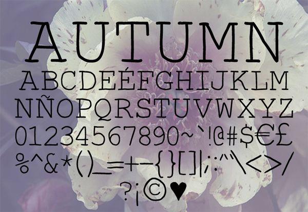 free handwritten font with serifs: Autumn