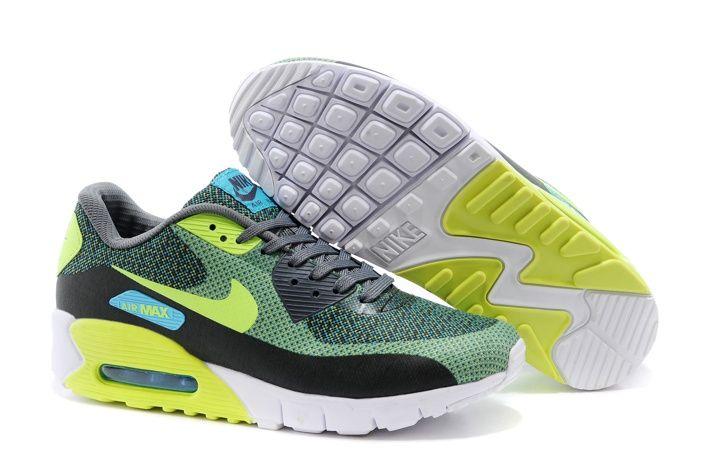 Sconto Nike Air Max 90 JCRD Di Sport Scarpe Da Corsa Per Le Donne Grigio Verde Giallo