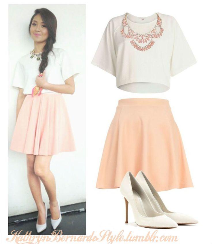 Kathryn Bernardo simple yet girly outfit.   Fashion yo   Pinterest   Search Kathryn bernardo ...