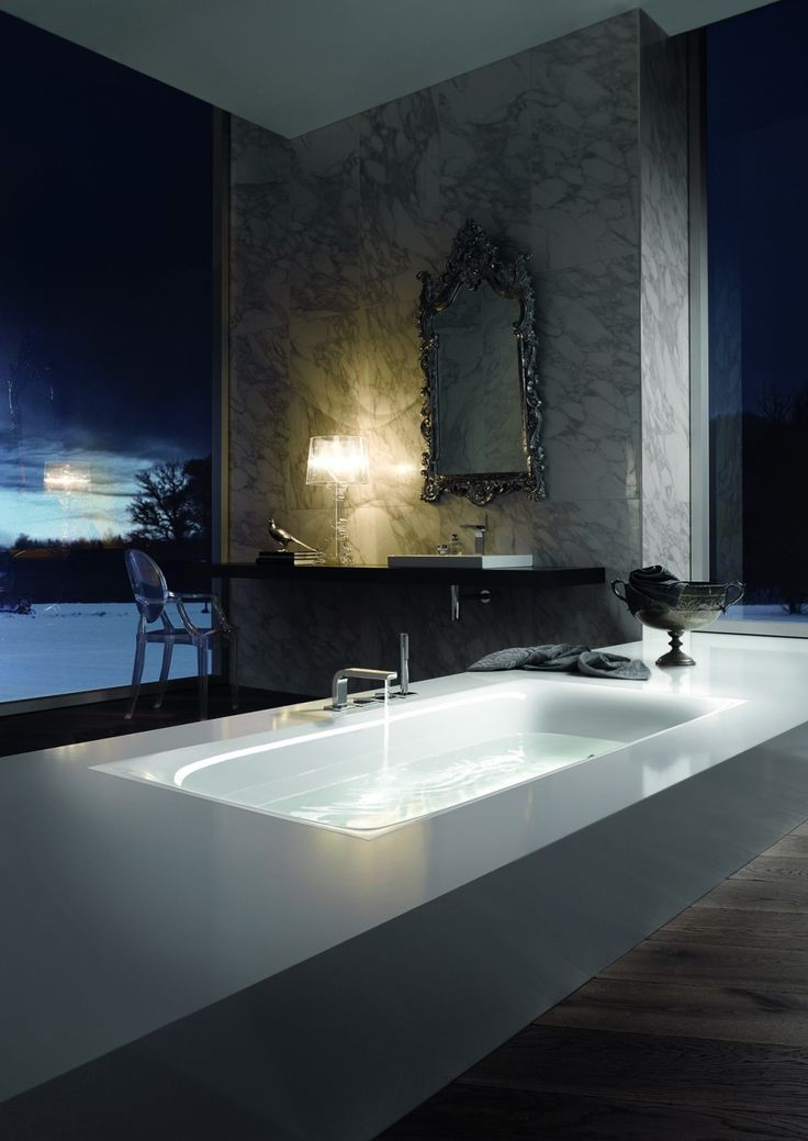 Get all cosy with this luxurious bathroom with a fantastic design and bath tub.
