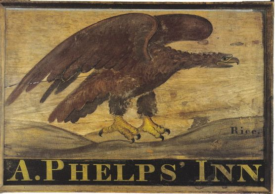 Trade and Tavern Signs; CT - Vintage sign, tavern sign, antique sign, vintage, American, colonial American, reproduction, tavern, circa 1820, museum quality, colonial American sign company, lions eagles bulls, early American