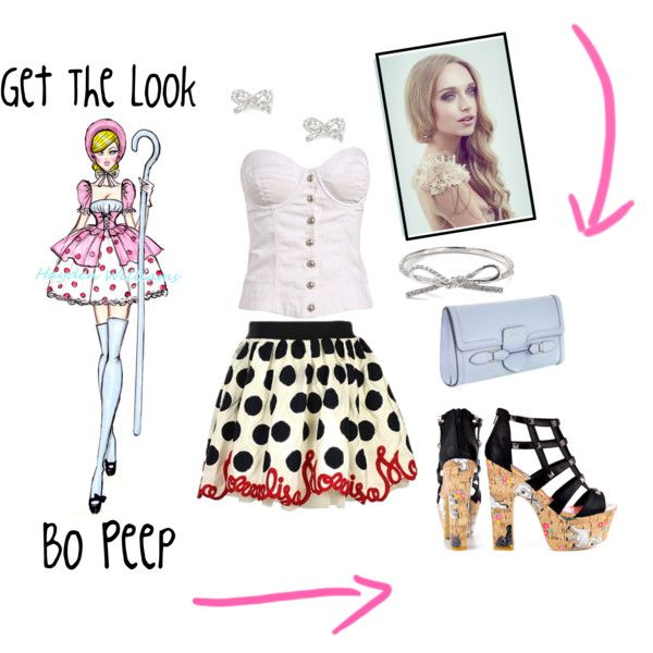 """Little Bo Peep Get The Look"" by ashley  #fashion #fashionblog #sheep #lamb #sheepheels #pinterest #blonde #corset #dress #shoes #heels #bow #nursery #littlebopeep #getthelook #highfashion #love #haydenwilliams"