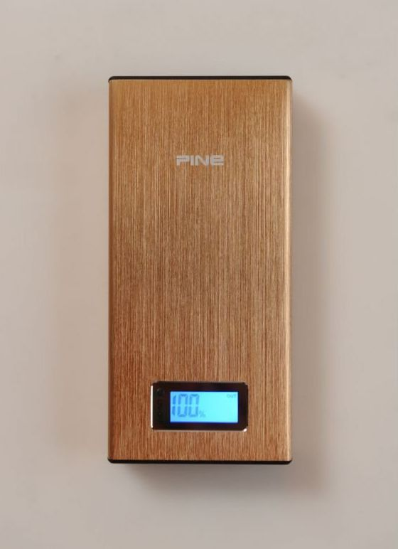 Pine PowerBank PN-912 16800mAh Gold. PN-912 capacity of this power bank is 16800mAh, 2 standard usb inerface, this power bank has a lamp that you can use as lighting, perfect for your gadget, with gorgeous design and gol case color, make his power bank  look exclusive.  http://www.zocko.com/z/JFzpm
