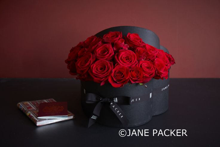 A truly fabulous display of stunning red Roses, skilfully arranged inside our black heart shaped Jane packer box. Surely the perfect way to show that special someone just how much they mean to you
