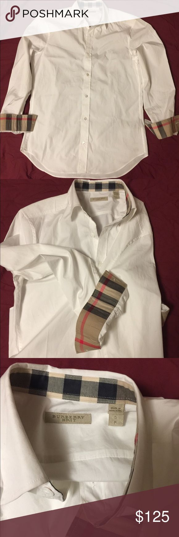 Burberry Brit Shirt for Men's Size Small Authentic white brand new Burberry Brit shirt size Small. No tags Burberry Shirts Dress Shirts