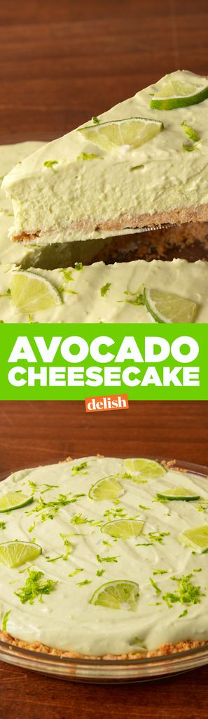 Avocado Cheesecake Is The Weirdest Dessert You NEED To Try   - Delish.com