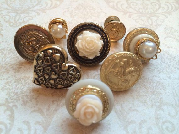Vintage Style Push Pins  Push Pins by TheVelvetVine, $20.50