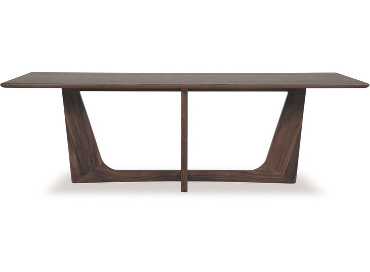 The Larson Dining Table Is Inspired By Mid Century Scandinavian Design Hollowed Frame With