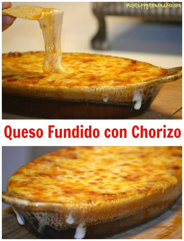 Queso Fundido con Chorizo – Cheese Lovers Beware…because you will ...