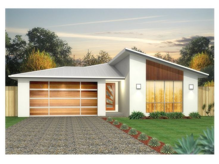 Hip Garage Roof With Slope Addition House Facades