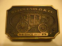Wells Fargo Stagecoach Vintage Bronze Paperweight