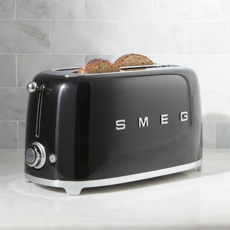 Free Shipping.  Shop Smeg Black 4-Slice Toaster.  Known for their wonderfully retro refrigerators, Smeg has launched a joyfully designed retro kitchen appliance collection based on the curved and compact lines of postwar design.