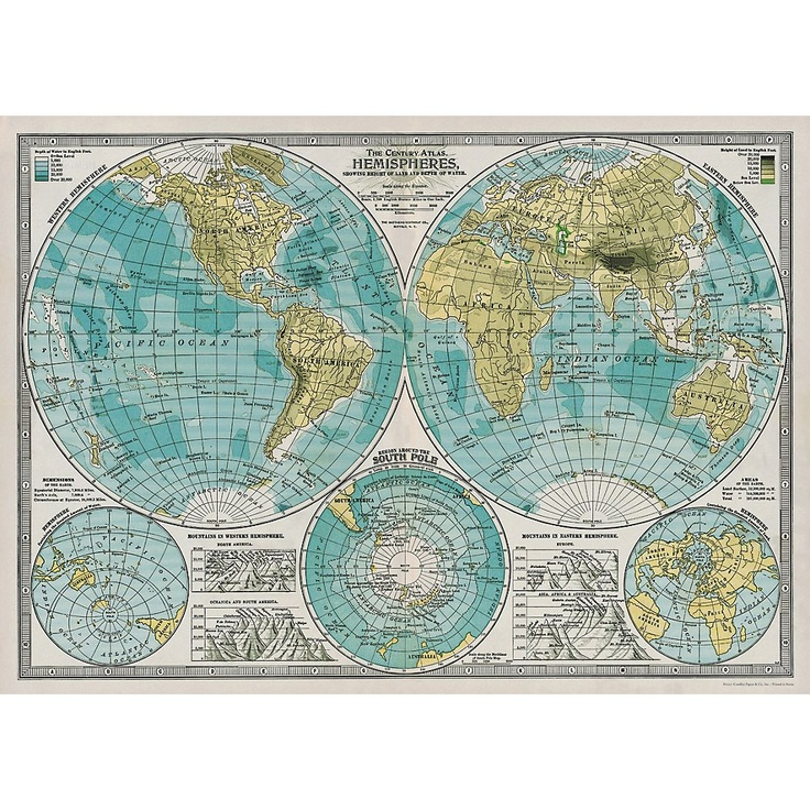 154 best maps images on pinterest worldmap child room and cavallini hemisphere map wrapping paper 20x28 for 395ace inside an gumiabroncs Images