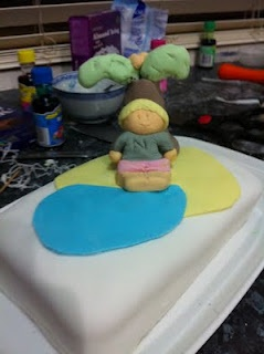 A Baking BONANZA - playing with white icing and creating artworks!