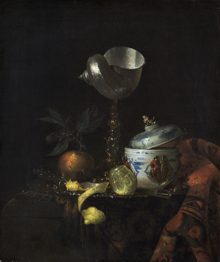 Willem Kalf (1619 – 31 July 1693) was a Dutch Golden - Still Life with Nautilus Cup