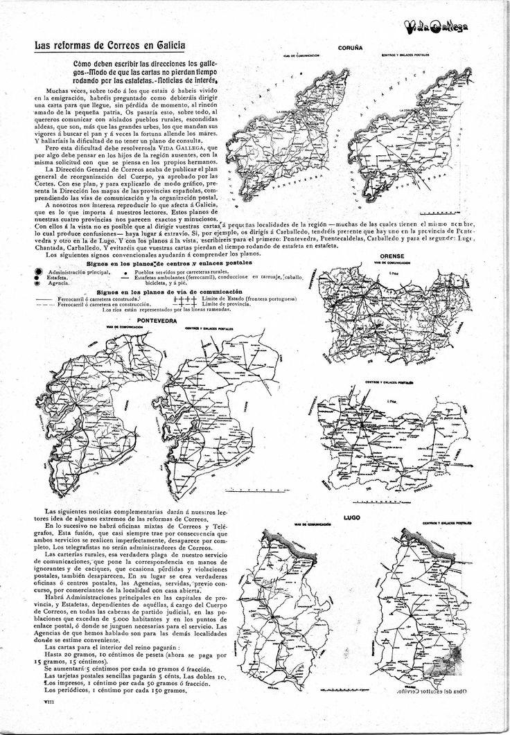 PLANOS DE CENTROS Y ENLACES POSTALES (Agosto, 1909)