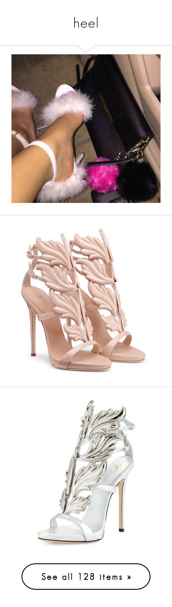 """""""heel"""" by kalis147 ❤ liked on Polyvore featuring shoes, sandals, heels, gladiator sandals shoes, roman sandals, heeled sandals, greek sandals, gladiator heel sandals, argento and platform heel sandals"""