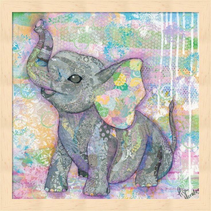 Lisa Morales 'Sweet Baby Elephant II' Framed Art
