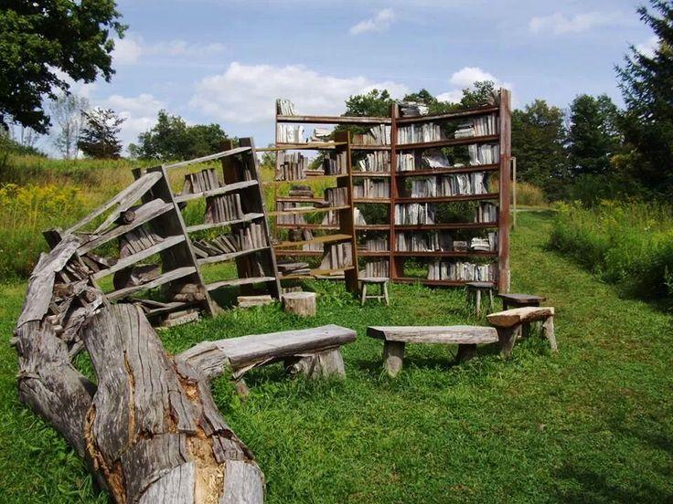 """Stacks"" by David Harper. Installation at Stone Quarry Hill Art Park, NY via Richard Kadrey's Damn Tumblr: Photo"