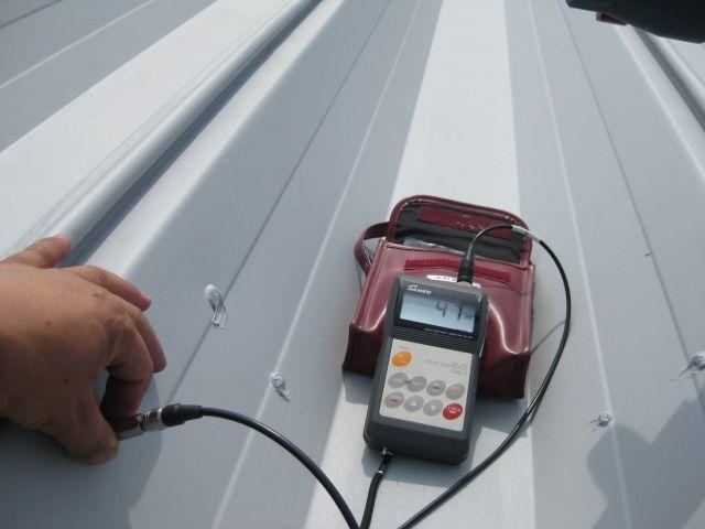 折半屋根 膜厚測定