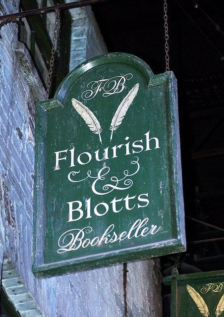 Flourish & Blotts. Oh how I wish this really existed.