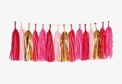 Molly Meg – pink tassel garland