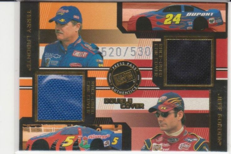 NASCAR 2003 DOUBLE COVER TERRY LABONTE & JEFF GORDON RACE USED CAR COVER TRADING