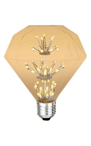 Product Description Item #42066Antique Retro Vintage Light Bulb - This new form LED approaches as close as possible the look of a vintage type bulb with modern high efficiency LED technology.This product dims best withLutron Diva Electronic Dimmer Part No. DVELV-300P. Features  Dimmable Non-flickering 2200K No UV / No IR Operating temperature:-10°C to +40°C -24° F to +104° F  Construction Aluminum Housing Glass Lens E26 Base Amber Lens Impact The amber lens reduces the color temperatu...