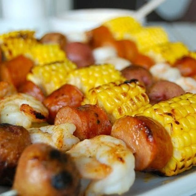 Grilling Low Country Skewers