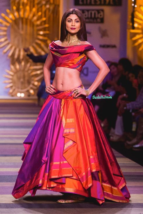 Shilpa Shetty's gorgeous lehenga - Tarun Tahiliani at Wills India Fashion Week A/W 2014  #wifw