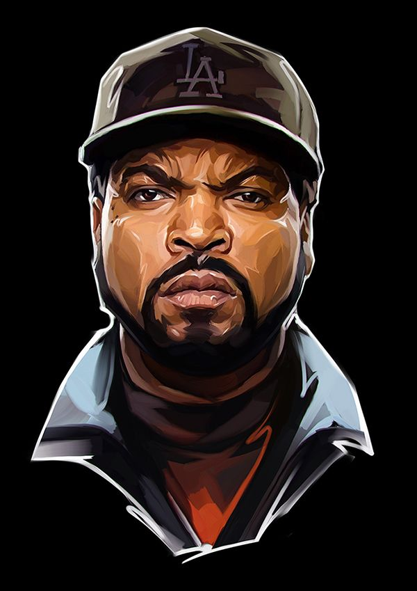 Famous Rap Stars illustrated by Russian Artist Viktor Miller-Gausa (Notorious B.I.G., Ice Cube, Eminem and more) | InspireFirst