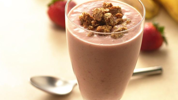 Granola Berry-Banana Smoothies - A healthy smoothie recipe made with ...