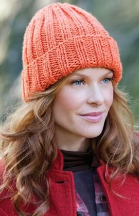 Easy knitted hat....one skein of yarn makes two hats. Took me two weeks to make one.