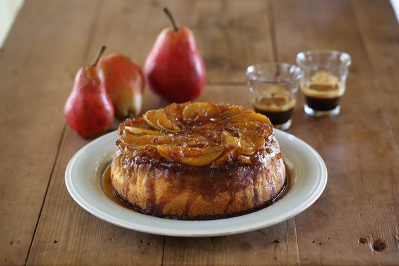 Maggie Beer's Pear and Ginger Upside Down Cake