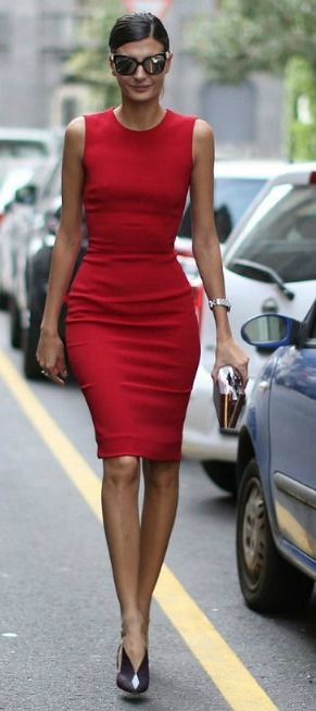 Street Style Red Dress Never Goes Out Of S T Y L E In 2018 Pinterest Fashion Dresses And Bodycon