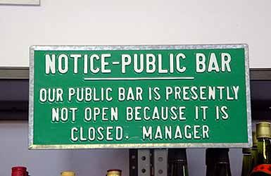 Bar closed
