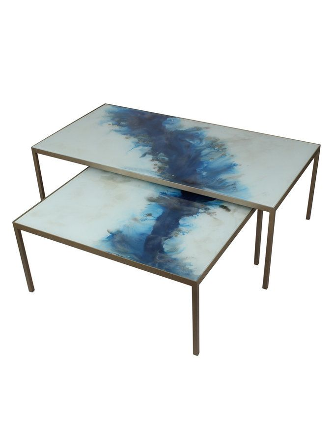 Rectangular Coffee Tables (Set of 2) from Mediterranean Style on Gilt