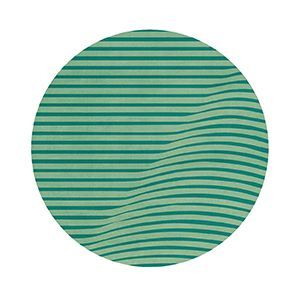 Anderson is a contemporary low pile rug produced using an overtufting technique. This round rug has a wavy and abstract pattern, available in many pasty color schemes, based on Wes Anderson color palettes. This accent rug will fill your room with style.