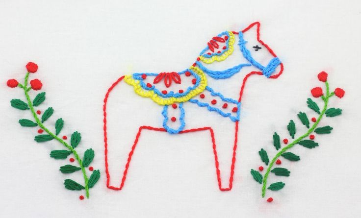 I just finished up this Dala Horse embroidery. These motifs are from the Scandinavian Christmas embroidery pattern set. Isn't he c...