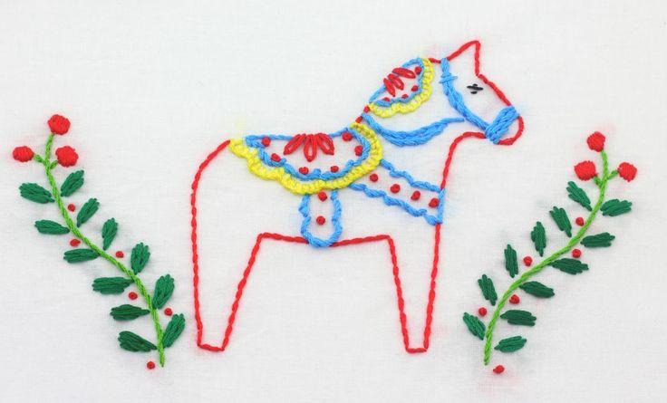 big B: Dala Horse Embroidery