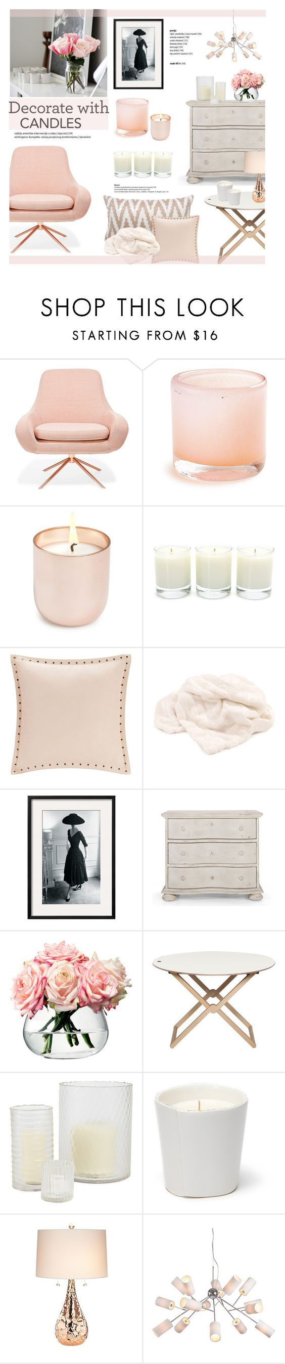 Decorate with Candles by helenevlacho on Polyvore featuring interior, interiors, interior design, home, home decor, interior decorating, Jonathan Adler, Antica Farmacista, Madison Park and Flamant