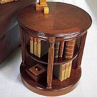 Neoclassical Round Bookcase