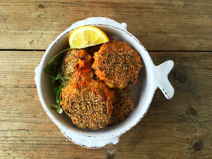 Oven baked fishcakes with chia & linseed crust- using leftover roast vegetables