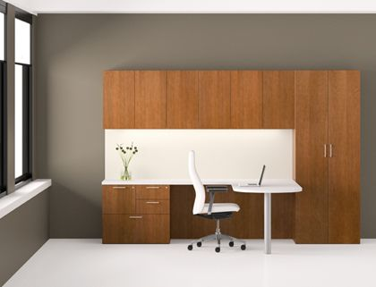 Trio Wood Office Furniture Casegoods Gunlocke