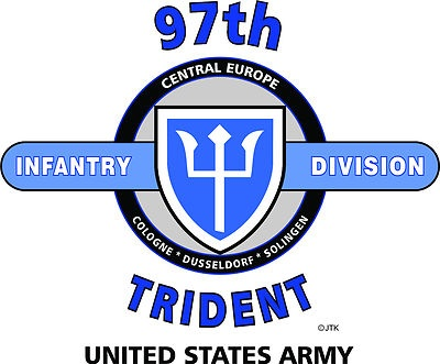 "97th Infantry Division "" Trident Division"" United States Army Shirt"