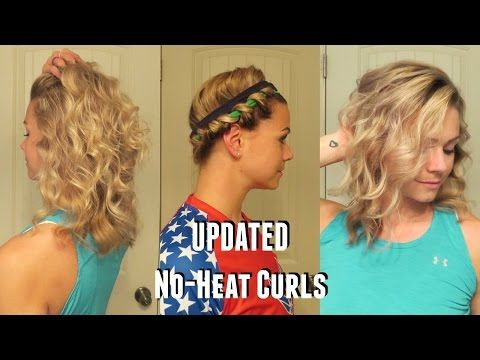 UPDATED No-Heat Curls - YouTube